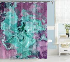 purple and green shower curtains. Contemporary Shower Curtain, Abstract Art, Turquoise, Aqua, Purple And Lavender Curtain Green Curtains