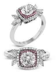 simon g jewelry 2017 trends diamond enement ring mr2826 white gold rose gold pink diamonds halo