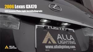 Installing Led License Plate Lights 2003 2009 Lexus Gx470 Led 168 License Plate Light Upgrade