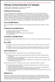 Primary School Teacher Cv Sample Myperfectcv Cv Pinterest