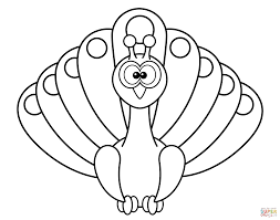 Small Picture Cartoon Peacock coloring page Free Printable Coloring Pages