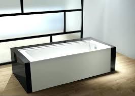 acrylic alcove bathtub aqua contemporary left hand drain x 60 32 ac