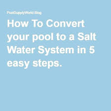 cost to convert pool to saltwater. Cost To Convert Pool Saltwater Converting A Traditional Chlorine . M