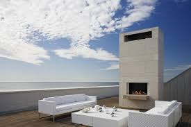 beach side outdoor fireplace this contemporary