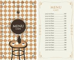 Price List Templates Enchanting Vector Menu Template For A Cafe With Price List And Served Table