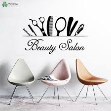 <b>YOYOYU Wall Decal</b> Hairdressing Woman Beauty Salon <b>Vinyl</b> Wall ...