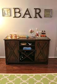 Make An At Home Bar Area! (World Market Buffet) Bar/Buffet In Dinning Room.