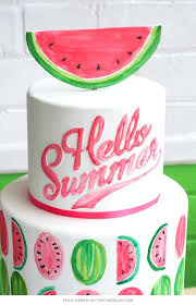 Cake Ideas For Womens 50th Birthday Watermelon By 4 Periskop