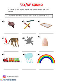 Phonics worksheets and online activities. Ay Ai Sound Worksheet
