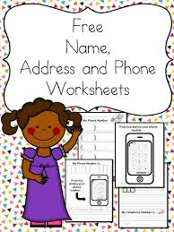 Telephone Number For Address Name Address Phone Number Worksheets Free And Fun Mrs Karles