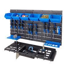 garage shed work wall tool storage rack kit inc tool
