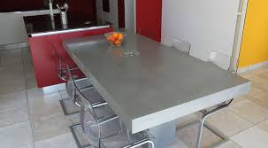 Table Basse Aspect Beton Impressionnant Table Cuisine Interesting