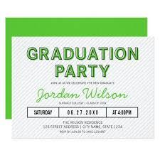 Graduation Party Announcement Zazzle Graduation Party Invitations Modern Stripes Green Graduation