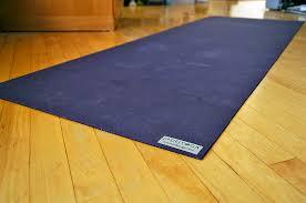 yoga mat gripped firmly