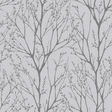 Silver Metallic Wallpaper Bedroom I Love Wallpaper Shimmer Tree Wallpaper Soft Grey Silver