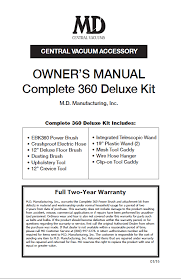 ebk 360 complete kit documentation help md central vacuum owner s manual deluxe kit