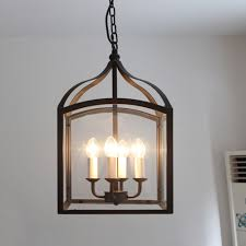 craft metal lighting. New Iron Art Craft Black Birdcage Pendant Lights Antique Pastoral Style Chain Hanging Lamp 4 E14 Bulbs Home Room Decors Gift-in From Metal Lighting