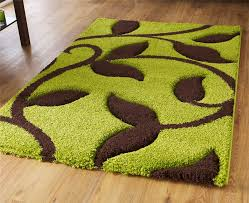 green and brown high density thick pile hand carved gy green and brown outdoor rug