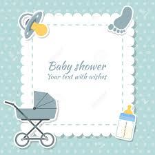 bébé garçon carte d invitation placez pour le texte cartes de voeux