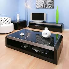 Black Coffee Tables Large Black Oak Glass Coffee Lamp Side Table Modern Designer
