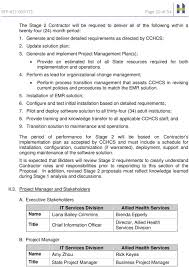 Cchcs Org Chart Request For Proposal Electronic Medical Record Project Its