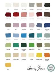 Annie Sloan Chalk Paint Color Chart Annie Sloan Products The Pause Room