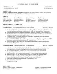 Sample Supply Chain Manager Resume