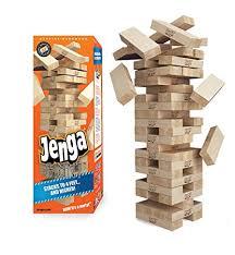 jenga giant genuine hardwood game stacks to 4 feet ages 8