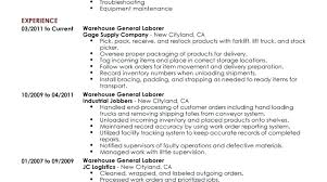 Warehouse Worker Resume Examples Warehouse Position Resume Examples