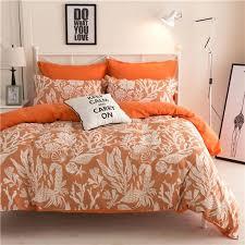 new arrival polyesterdeer cartoon orange blue queen twin full bedding bed sheet set bedclothes duvet cover