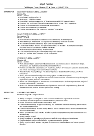 Cyber Security Analyst Resume Sample Photo Gallery For Photographers