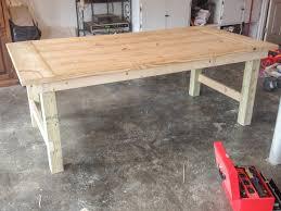 image of diy farmhouse table legs trundle