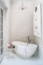 interior crystal chandelier over corner tub with marble saarinen side table beautiful bathtub new 8