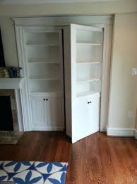 bookcase door traditional family room bookshelf closet doors diy bookshelf closet door
