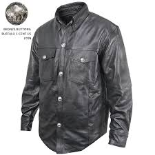 xelement xs 908b mens leather shirt