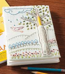 embroidered doodle notebookembroidered doodle notebook spiral notebook doodles embroidery and journal