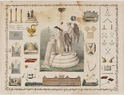 Masonic Chart For Third Degree Published By John Sherer