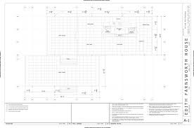 Likable Dimension House Plans : Jsnfmn The Farnsworth House Finds A Home Floor  Plan Dimensions Dimension