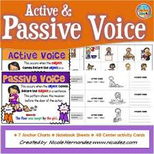 Active Voice Passive Voice Chart Active And Passive Voice Anchor Charts Verbs Have A Voice Too