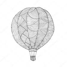 Luchtballon Boek Kleurplaat Voor Volwassene Stockvector Jly19
