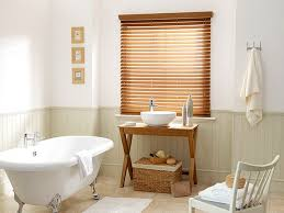 best blinds for bathroom. Give Your Bathroom A Warm, Rustic Feel With This Waterproof Faux-wood Blind. Best Blinds For