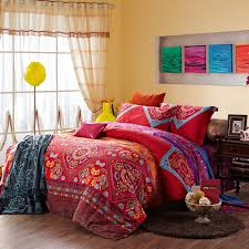 chinese red and colorful vintage indian style tribal print 100 indian print duvet cover