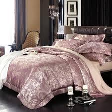 royal purple paisley park print retro style jacquard light purple bedding set