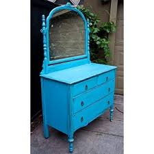 modernly shabby chic furniture electric blue dresser w mirror blue shabby chic furniture