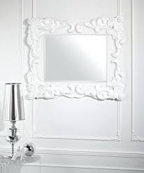 Small Picture Wall Mirror White Casbah 45 High Decorative Wall Mirror Full