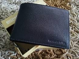 michael kors mens leather passcase wallet black