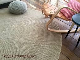 premium jute area rug 10 ft 300 cm large natural jute rug hand crochet no 004