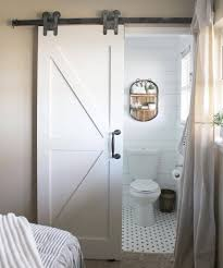 farmhouseforfive just remodeled her bathroom with the h strap pottery barn bathroom rugs bathroom barn door privacy