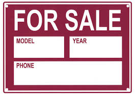 Car Sale Sign Template Vehicle For Sale Sign 24 Additional Products SAS Safety Corp 6