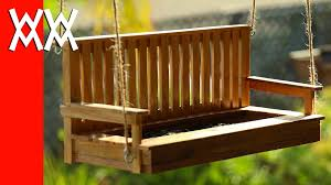 How To Build A Porch Swing Make A Porch Swing Bird Feeder Pallet Wood Youtube